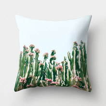 Tropical Plants Printed Polyester Pillow Cases
