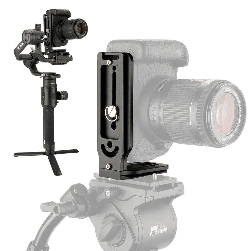 Cámara de Disparo Vertical liberación rápida placa L soporte de vídeo para Canon Nikon Pentax Fujifilm dji ronin s zhiyun crane 2 v2