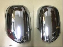 цена на Car Styling ABS Chrome External Door Mirror Covers For Toyota Land Cruiser 120 Prado J120 2003 2004 2005 2006 2007 2008 2009