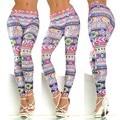 Colorful Geometric Printed Skinny Women Leggings Casual Stretch Fitness Legging Autumn Leggings Women Tights Pencil Pants