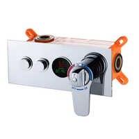 Becola na parede válvula de chuveiro termostática led temperatura display digital escondido chuveiro válvula mistura torneira HW-9812