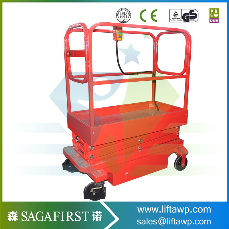 240kg Mini Manually Mobile Aerial Working Platform