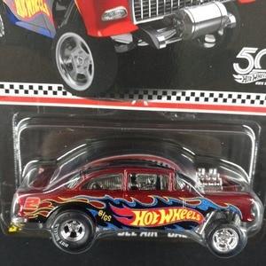 Image 2 - חם גלגלים רכב שברולט BEL אוויר GASSERCollector של מהדורת 50th יום נישואים מתכת Diecast מכוניות אוסף ילדים צעצועי רכב עבור מתנה