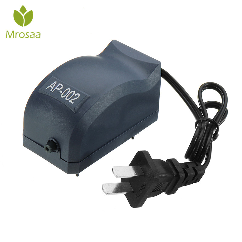 Mrosaa 1.5W Aquarium Air Pump Silent Fish Tank Mini Oxygen Pumps aquarium accessories compressor Air pumps Single hole Outlet