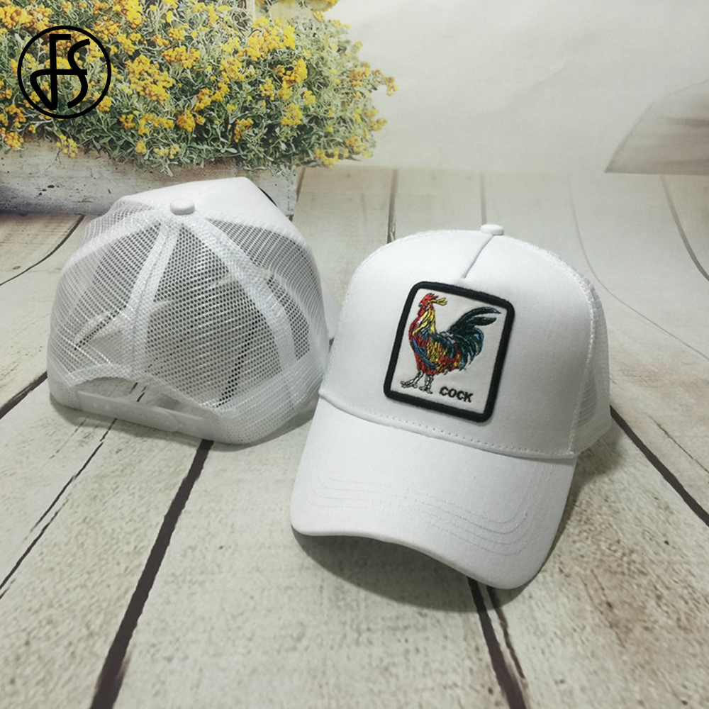 FS 2019 Spring Various Animal Cock Embroidery Men Women   Baseball     Caps   Snapback   Cap   Breathable Mesh Hip Hop Hats Gorras Animales