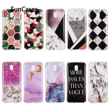 Hot Cases For capa Samsung J8 2018 Marble Phone Caso sFor Samsung Galaxy estojo J3 Pro J5 J4 J6 J510 J6 Plus + J4 J7 J710 2016(China)