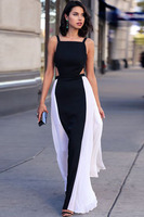 Women Dress 2015 Sexy Dresses Vestido Casual Elegant Sleeveless Side Pleated Gown Backless Bodycon Dress Free