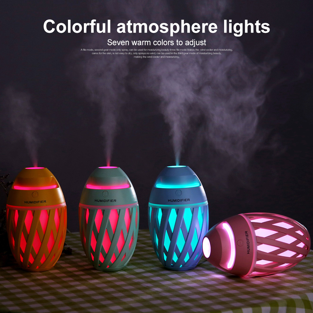 LIGINWAAT 320ml Mini Colorful LED USB Aroma Lamps  Air Humidifier Essential Oil Diffuser Cool Mist Maker Aromatherapy For Office