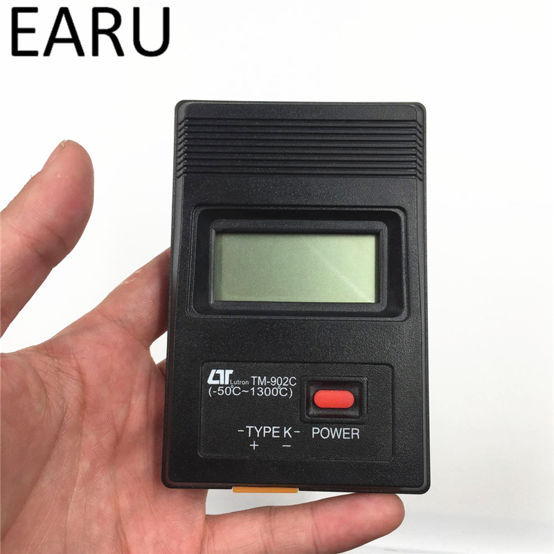 TM-902C цифровой ЖК-дисплей термометр Температура детектор Промышленный Thermodetector метр K Тип один Вход + 1 м термопары