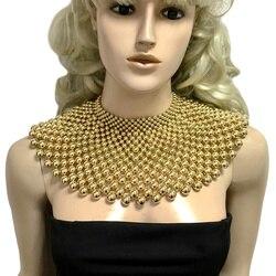Brand Indian Jewelry Handmade Beaded Statement Necklaces For Women Collar Beads Choker Maxi Necklace Wedding Dress UKEN