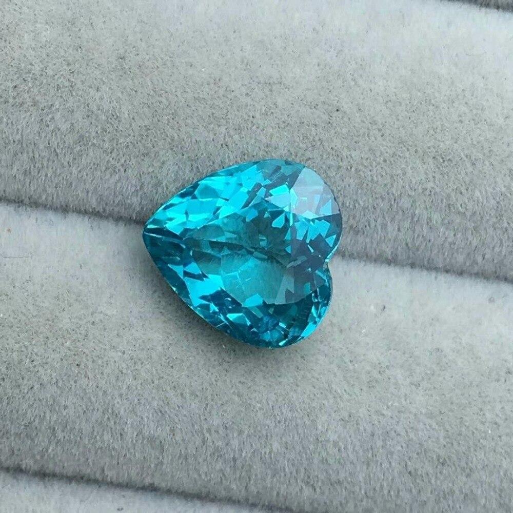 Apatite naturelle, exécution exquise, poids: 3.38ct caractéristiques: 9.9x9.4x5.5mm gemme parfaite qualité parfaite