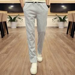 Мальчик Для мужчин брюки мужского Повседневное прямые брюки студент Черный, серый цвет брюки плюс Размеры Летний стиль