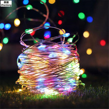 Ikea LED light 2M 3M 5M 10M Copper Wire Cabinet Light Garland Wedding Decor Christmas Fairy string lamp for Indoor Home lighting