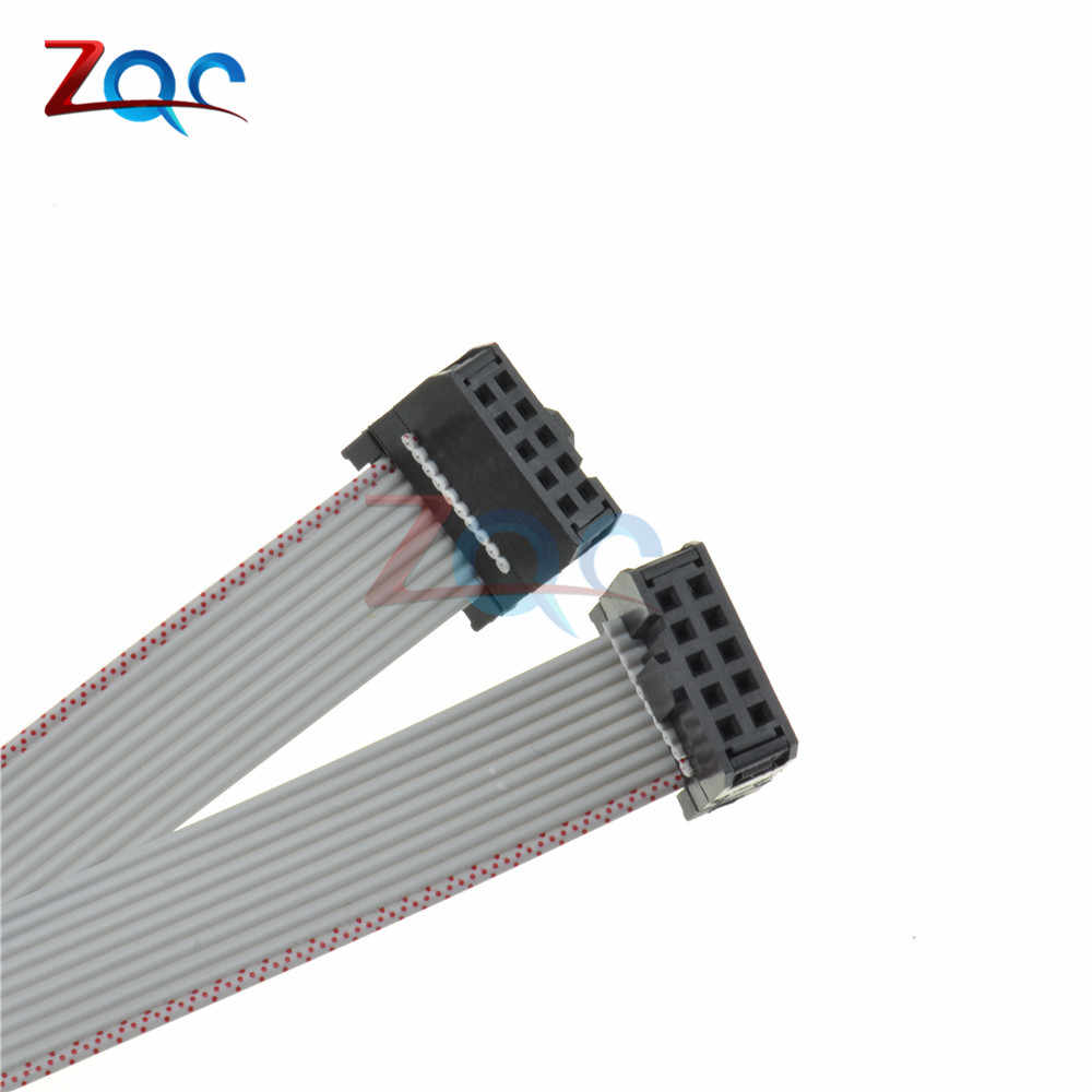 70 Cm 10 PIN USB ASP ISP Jtag AVR Kawat 10 P IDC Pita Datar Kabel Data Konektor 2.54 Mm