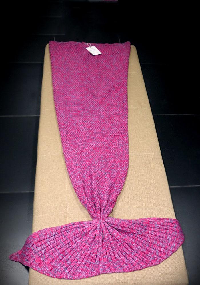 98ae62dd60 wool blended 180 80cm knitted Mermaid Tail blanket children adult baby  mermaid blanket Throw Bed children swaddle sleeping bag-in Blanket    Swaddling from ...