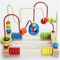 Brinquedos do bebê 1 Conjunto Clássico Fio Labirinto Aprendizagem Educacional Brinquedo De Madeira Em Torno de Contas Brinquedo de Infância