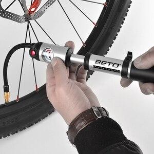 Image 5 - ベトMP 036ポータブルハンドミニポンプタイヤフォーク空気インフレータ自転車ポンプホースゲージ300 psi高圧自転車ポンプav/fv