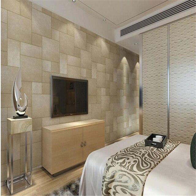 Beibehang Drei Dimensional Ländlichen Umwelt Persönlichkeit Retro Marmor  Ziegelsteinmuster TV Hintergrundbild Braunen Tapete