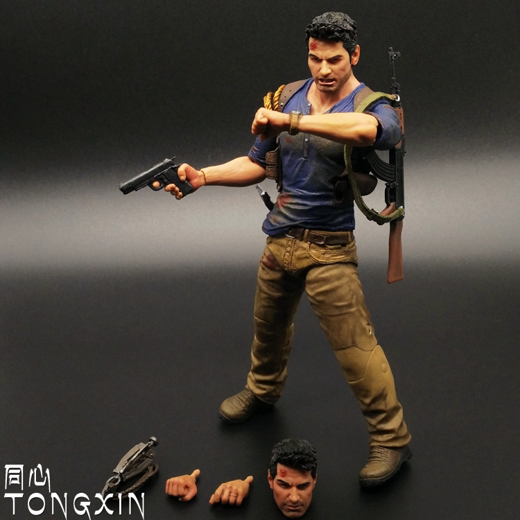 все цены на  SAINTGI Uncharted 4 A Thief's End Mysterious sea area game figure 18cm opp bag action movable nathan drake with box  онлайн