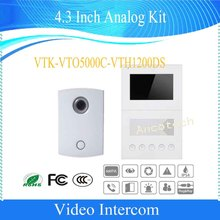 Free Shipping DAHUA Video Intercom 4.3 Inch Analog Kit Color CMOS night vision camera Without Logo VTK-VTO5000C-VTH1200DS