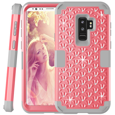 Heavy Duty Hybrid Case For Samsung Galaxy S9 S9Plus Shockproof Armor Rugged Case Cover Hard PC + Soft Rubber Silicone Phone Case (31)