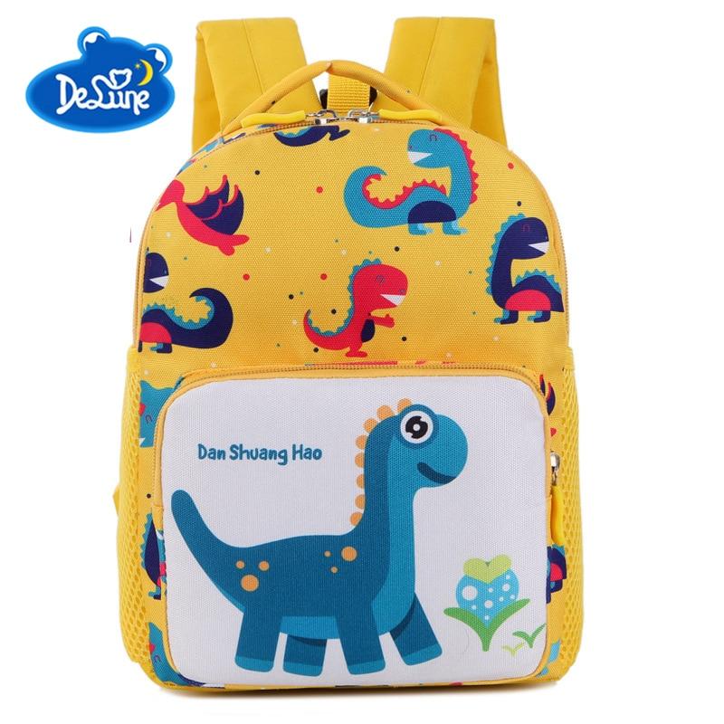 2018 New Kids Backpacks Cute Cartoon Dinosaur Printed School Bags for Kindergarten Girls Boys Children Anti-list Bags Toddle Bag