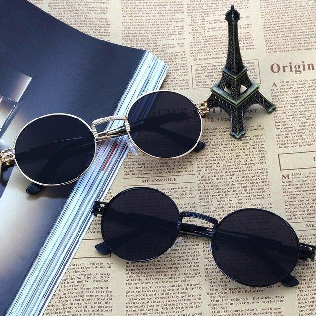 Retro Vintage Mulheres Homens Óculos de Sol Espelho Redondo Lente Oculos de  sol Unisex Aviator Polit c1d1186f60