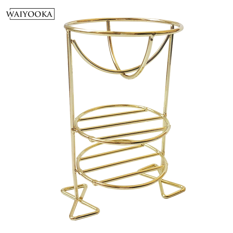 Image 5 - Creative Multifunctional Double deck Makeup Beauty Egg Powder Puff Sponge Display Stand Drying Stand Holder For Dressing Table-in Makeup Organizers from Home & Garden