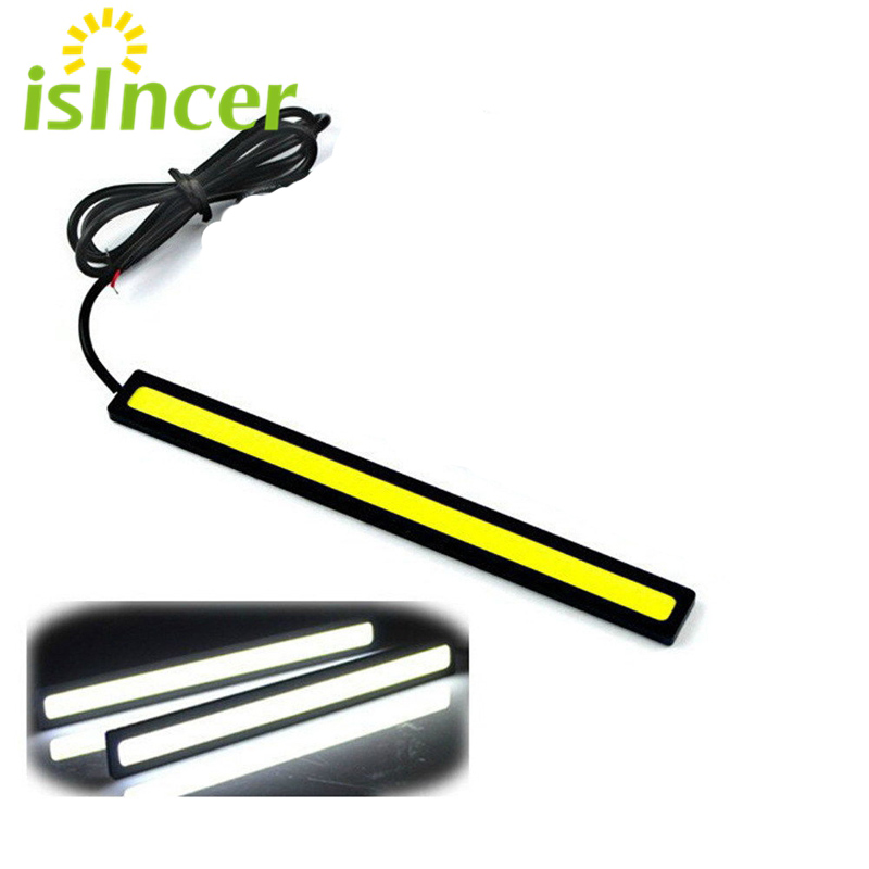 1Pc 17cm COB DRL LED Daytime Running Lights Auto Lamp External Lights For Universal Car 100% Waterproof Car styling Led DRL Lamp 2pcs set new design drl led daytime running lamp auto cob light 100% waterproof car accessories free shipping