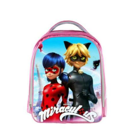 13 Inch Miraculous Ladybug Marinette Cat Noir Backpack Kids School Bags for Boys Girls Schoolbag Kindergarten Child Bags
