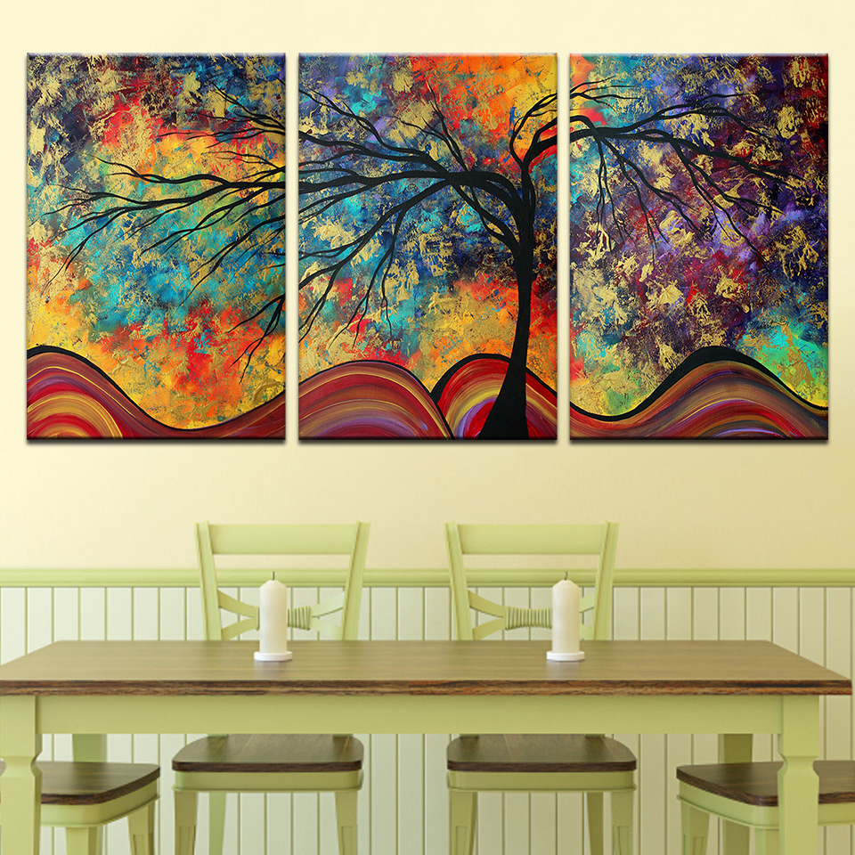 frame Wall Art Canvas Painting Home Decor For Living Room abstract ...