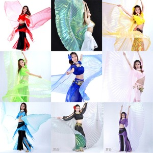 Image 1 - High quality Wholesale belly dance wing Women Belly Dance Translucent Wing Girls isis Wing Dance For Props Lady Dance Clothe