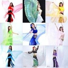 Hoge kwaliteit Groothandel buikdans vleugel Vrouwen Belly Dance Translucent Wing Meisjes isis Vleugel Dans Voor Rekwisieten Dame Dans Kleden