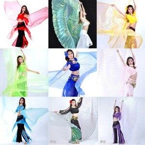 Image 1 - คุณภาพสูงขายส่ง belly dance ผู้หญิง Belly Dance โปร่งแสงปีกหญิง isis ปีก Dance สำหรับ Props Lady Dance ผ้า