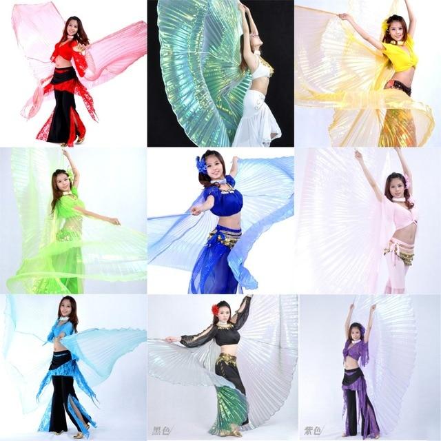 คุณภาพสูงขายส่ง belly dance ผู้หญิง Belly Dance โปร่งแสงปีกหญิง isis ปีก Dance สำหรับ Props Lady Dance ผ้า