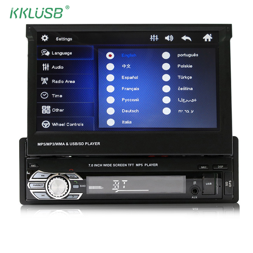 car radio gps navigation auto stereo audio bluetooth 1 din. Black Bedroom Furniture Sets. Home Design Ideas