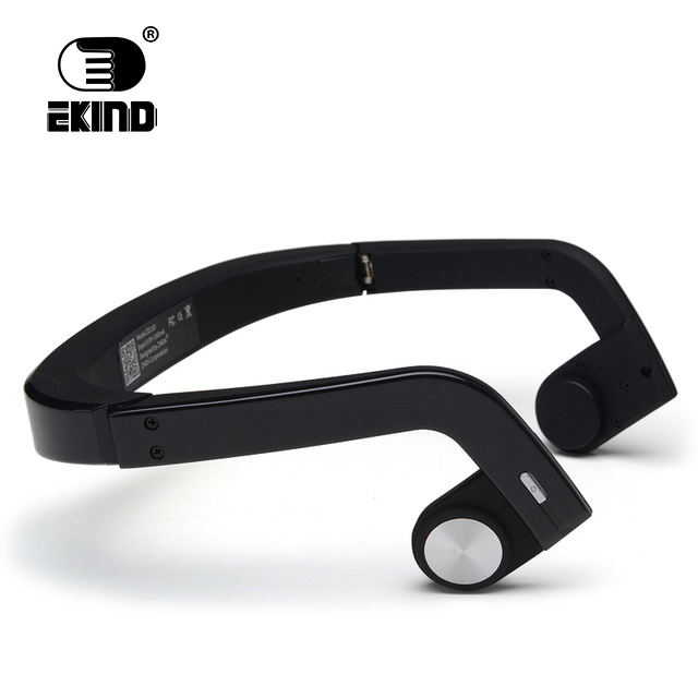 EKIND Bone Conduction Earphones Earphone Wireless Headset Stereo Sport Headphone ZD100 Handsfree for Bluetooth 300mah sport stereo mini wireless bluetooth headset necklace bluetooth earphone handsfree clip on earphone headphone