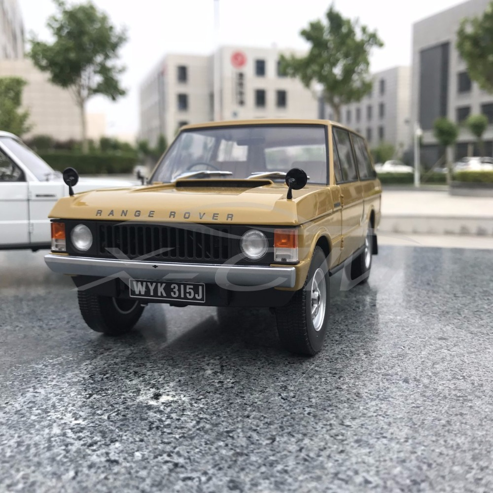 Diecast Car Model Almost Real 1970 1 18 Yellow SMALL GIFT