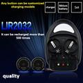 Alta calidad! 1 unids cargador + 4pcslir2032, LIR2025 ML2032 ML2025 CR2032 coin cargador de la ue plug botón excelencia