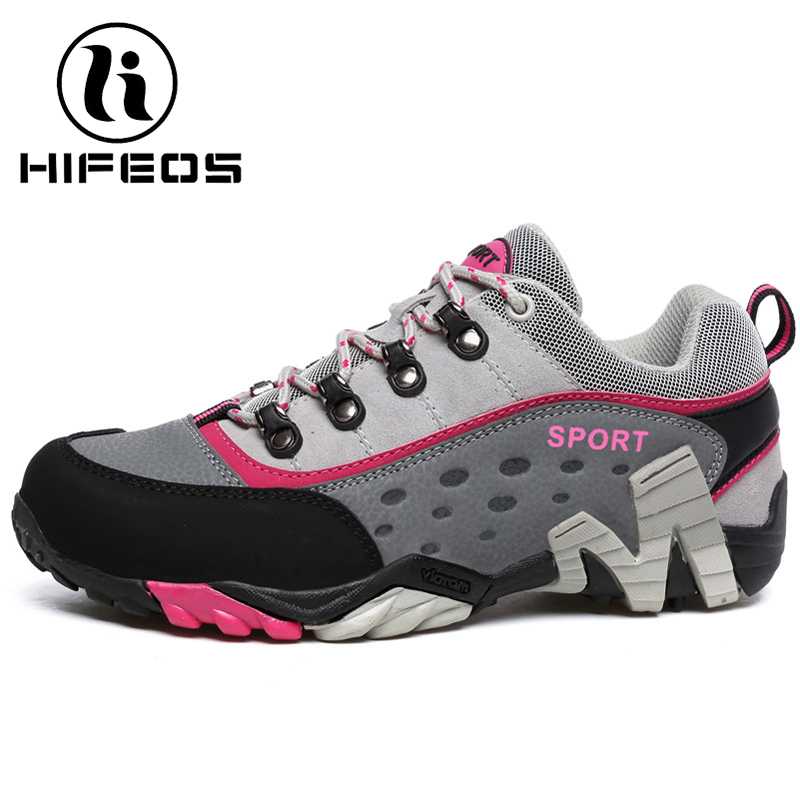 HIFEOS winter outdoor hiking couple shoes breathable trekking boots anti-slip women's sneakers low-top mountaineer leather M079 hifeos men winter outdoor hiking shoes couple anti slip breathable boots mesh couple climbing mountaineer low top sneakers m067