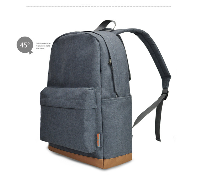 a grey casual backpack