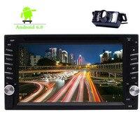 Double 2 Din Car DVD CD Player 6.2 Touch Screen Car Stereo GPS Navigation Bluetooth Autoradio WIFI Mirror Link DVR FM/AM RDS
