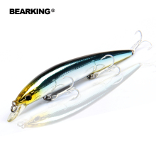Купить с кэшбэком Bearking Bk17-M59 Wobbler Minnow 128mm 14.8g 2017 new hot sale 1PC Fishing Lure Depth Hard Bait Long Tongue Minnow Lure