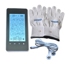 New FDA Neck And Back Electronic Body Massager Touch Screen Smart Pulse Acupuncture Machine With Conductive Glove Sock Kneepads