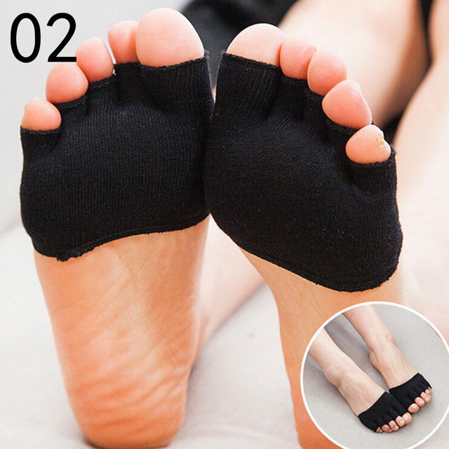 1 Pair Invisible Non Slip Toe Half Grip Heel Five Finger Socks Health Care Accessories  Feet Care Tools 5