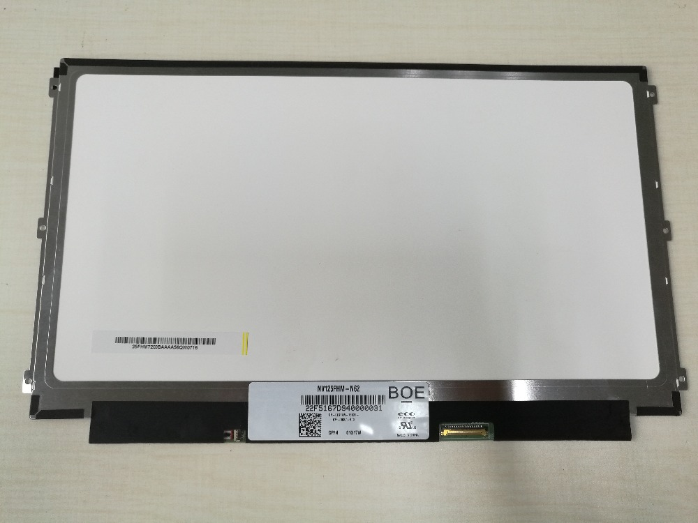 Free Shipping NV125FHM-N62  12.5 1920*1080  Laptop LED LCD Display for DELL 01G17W 1G17W LCD Screen Panel laptop lcd lp140wf1 sp b1 for dell e7440 with touch lcd screen led display brand new 1920 1080