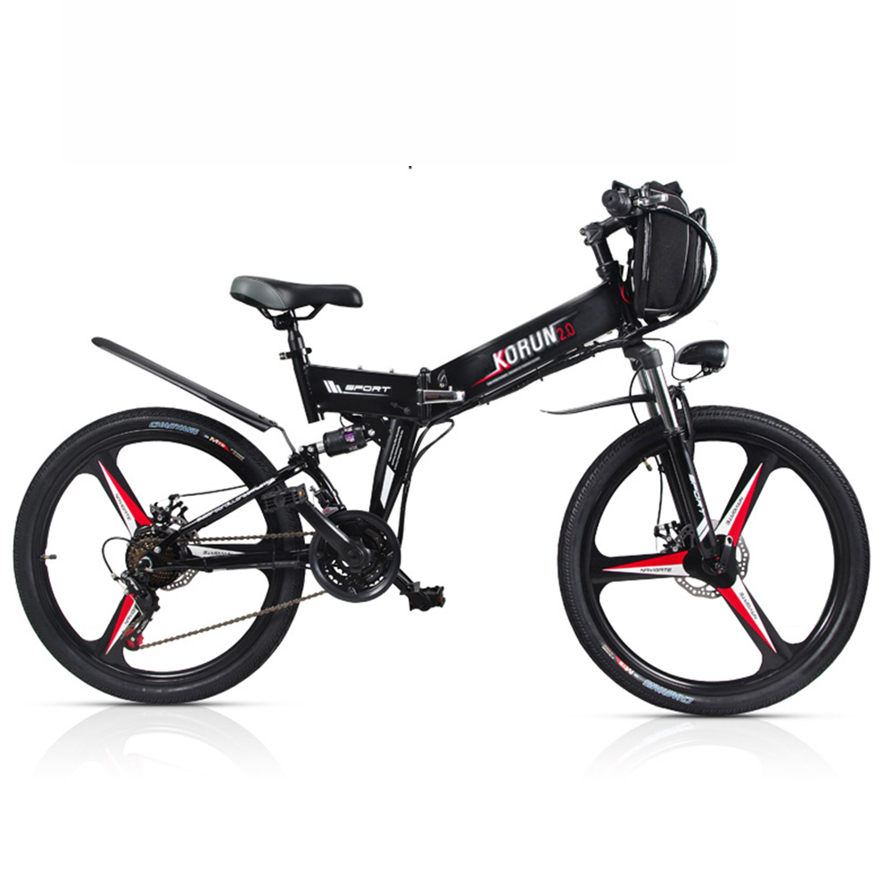 26inch Electric bicycle 48V Double lithium battery electric mountain bike smart assist hybrid ebike rang 80 100km ebike