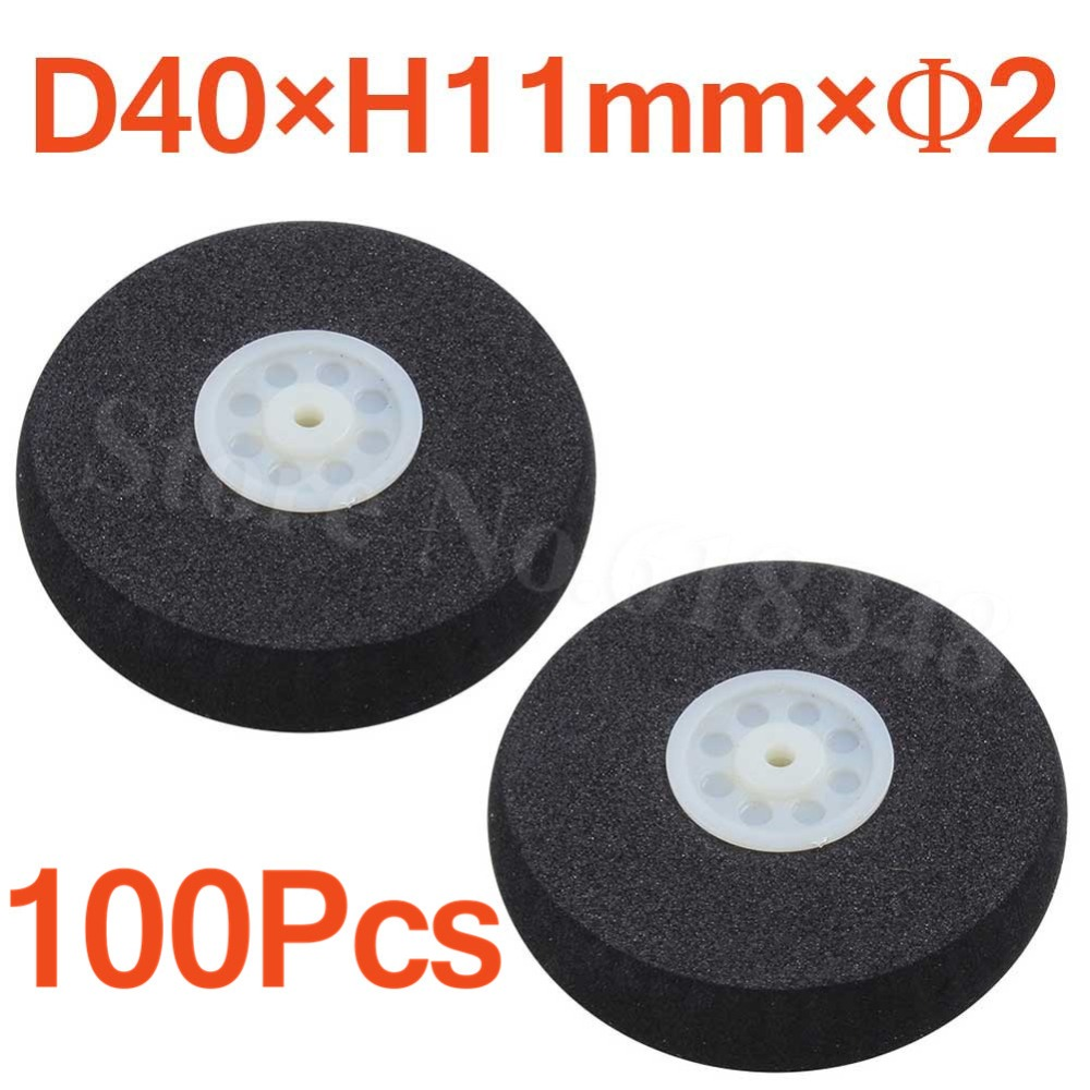 100pcs Light Foam Tail Wheels Diam: 40mm Thickness:11mm Axle hole: 2mm For Remote Control RC Airplane Parts Replacement image