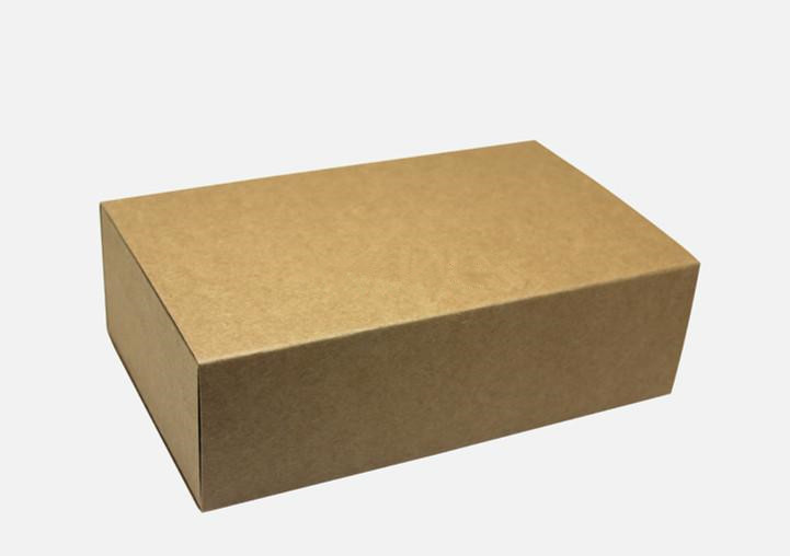 20pcs/lot-18*10*6cm Blank Kraft Drawer Box Handmade Soap Gift Craft Jewel Macaron Packaging Party Gift Brown Paper Boxes