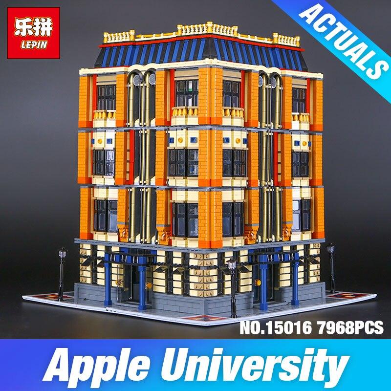 Nuovo 7968 Pz Lepin 15016 Genuino MOC Creativo Serie L'apple delle Università Set Building Blocks Mattoni Educativo di DIY Bambino giocattoli